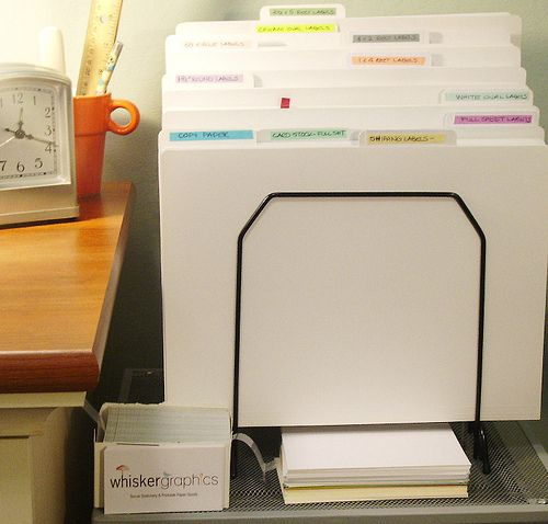 File folder organization-- I love the idea of organizing them by categories (i.e., Numbers, Shapes, Sorting, etc.).  Make finding and putting them back easier by color coding the files themselves or the labels.