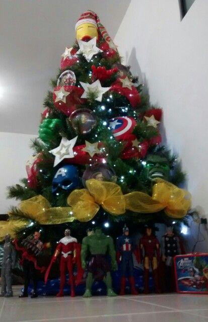 Super Heroes Arbol de Navidad