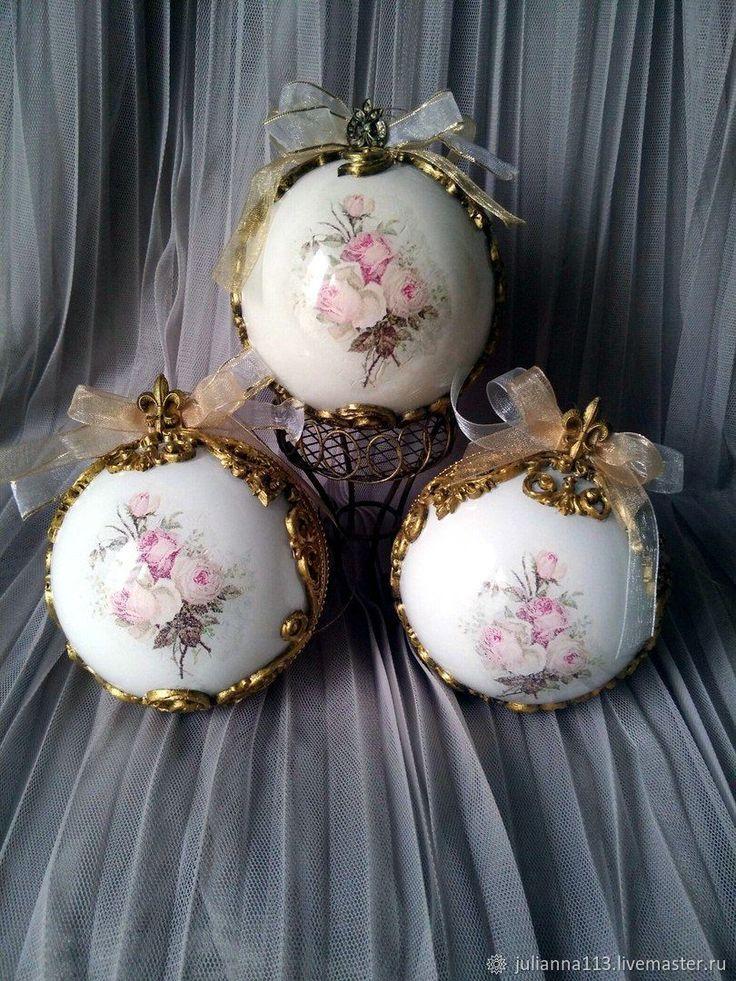 """Купить Новогодний, елочный шар, игрушка, украшение"""" Винтаж Роза в интернет магазине на Ярмарке Мастеров"""