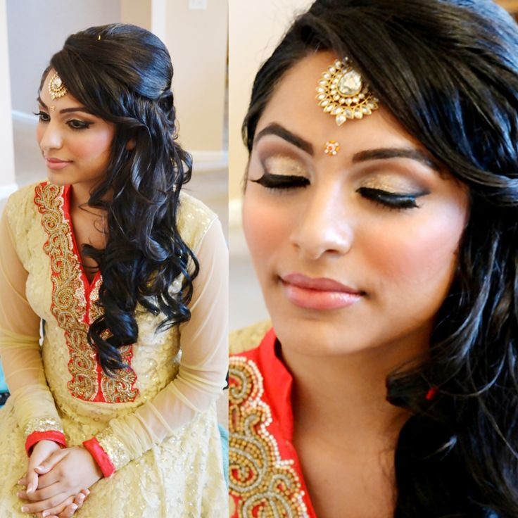 Best Reception Images On Pinterest Indian Wedding Hairstyles