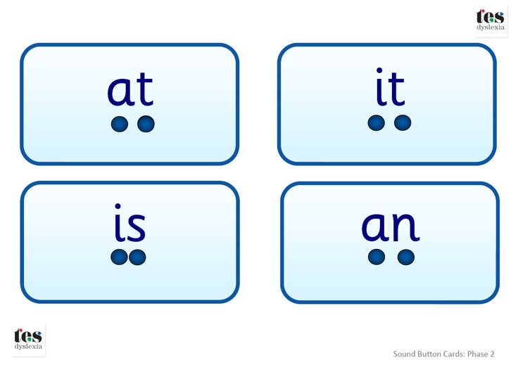 Simple word flash cards with 'buttons' below the words to highlight individual sounds. Designed to look more 'grown up' and therefore suitable for older students. Clearly designed using Sassoon font and a blue colour palette. The set includes 96 words in total.