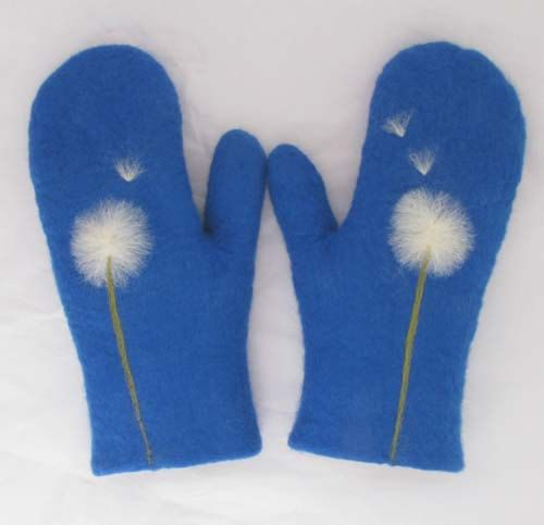Felted wool mittens!