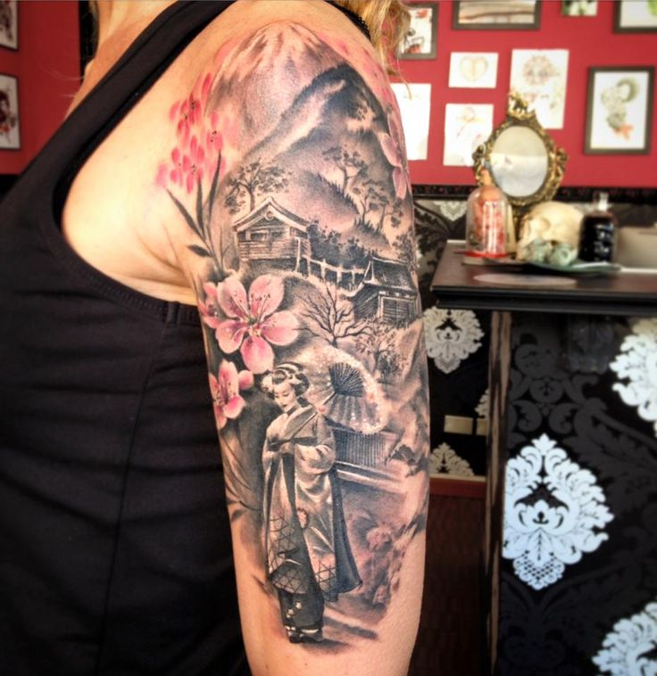 réalisme avantgarde Carolina Avalle - japan and geisha tattoo