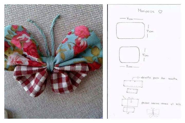 Papillon de tissu pour agrémenter votre bouquet original ou décorer votre salle en accord avec votre thème de mariage
