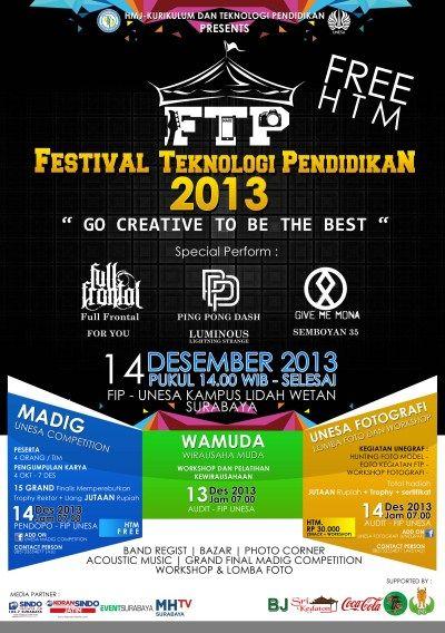 "Festival Teknologi Pendidikan 2013 ""Go Creative To Be The Best"""