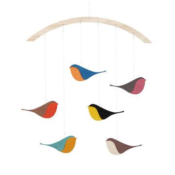 Songbirds Wooden Mobile by snug.studio.Songbird Mobiles, Snug Studios, Kids Stuff, Birds Mobiles, Songbird Wooden, Baby, Wooden Mobiles, Products, Crafts