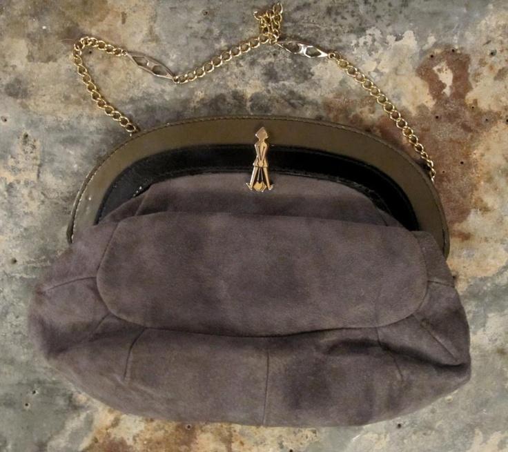 Vintage suede bag available in Beware of Limbo Dancers  Dkk 249,-