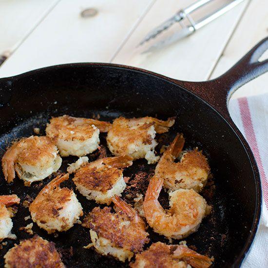 Healthy Coconut Shrimp | Coconut flour gives these pan-fried coconut shrimp an extra dose of fiber.