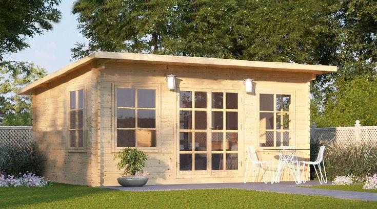 En meget populær mid-size modell. Takket være redusert mønehøyde og kompakt størrelse er Arild et planleggingsvennlig (i de aller fleste tilfeller) hageanneks som passer dine behov. Det kan tjene mange formål, inkludert hagekontor, komfortabelt fritidsrom eller som en redskapsbod. De store vinduene og franske dører gir rikelig med sollys inn i bygget og skaper en veldig koselig atmosfære.Areal: 22 m² Material: Naturalig furu/skandinavisk gran