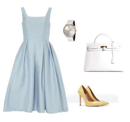 Sylwetka K:  Sukienka Dorothy Perkins  Torba Hermes  Buty Zara  Zegarek Calvin Klein
