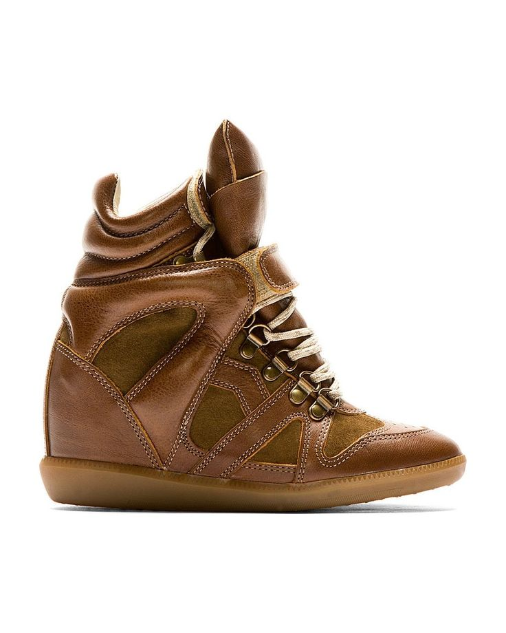 Isabel Marant Brown Leather Tibetan Sneakers - Isabel Marant #ISABELMARANT #fashion #women #fashionshoes #shoes #lifestyle #gifts #womenfashion