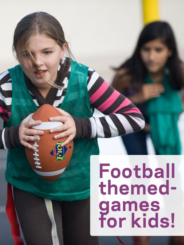Get ready for the Super Bowl with these Six Football-Themed Games for Kids to Play.