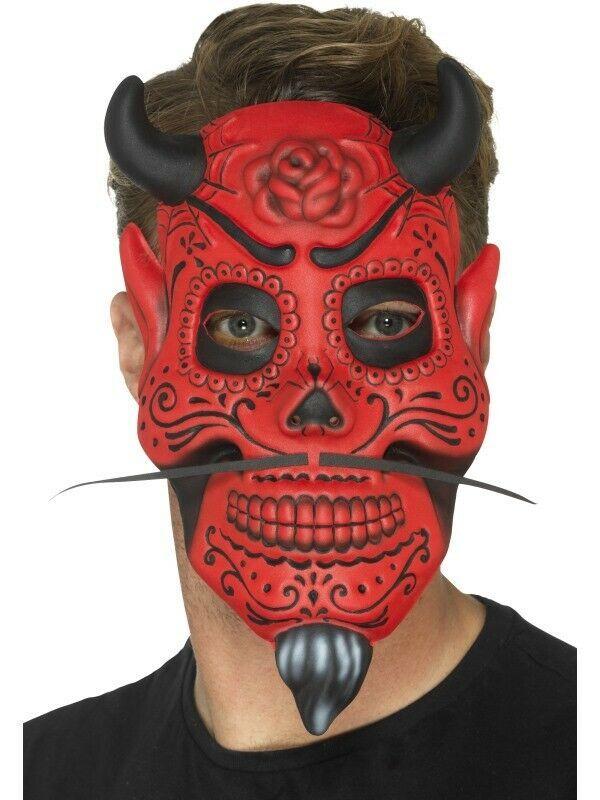Devil Mask Adult Halloween Costume Fancy Dress