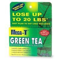 Mega-T Green Tea, Caffeine Free, Caplets, 30 ct. by Mega-T. $4.74. Dietary Supplement. Natural green tea extract (EGCG). 15 Day supply. Lose up to 20 lbs (over a period of time with diet and exercise plan). Helps curb appetite. Helps burn more calories. Helps fight mental fatigue. Mega-T is a natural, drug-free dietary supplement formulated to help you achieve your weight loss goals. Each caplet contains caffeine-free Green Tea with EGCG, the well-known natura...