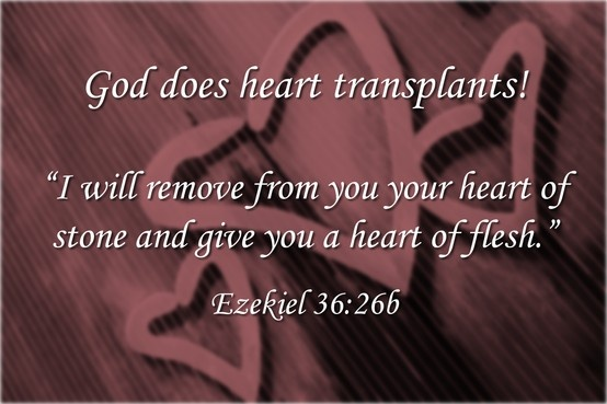 God Does Heart Transplants Ezekiel 36:26