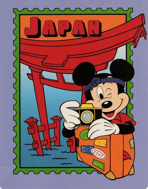 Mickey in Japan postcard | Flickr - Photo Sharing!