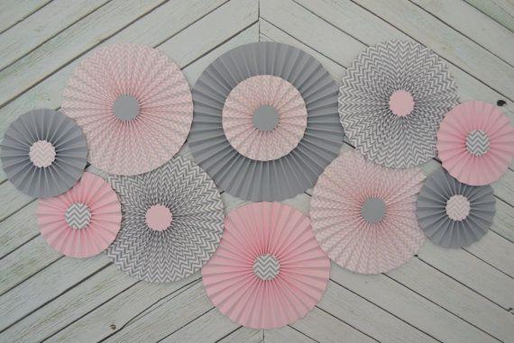 http://www.etsy.com/listing/157767794/set-of-11-eleven-chevron-pink-grey-paper