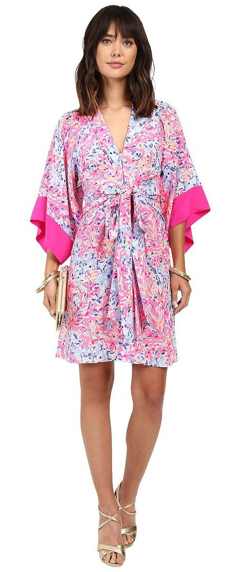 Lilly Pulitzer Kimora Dress (Multi Coco Coral Crab) Women's Dress - Lilly Pulitzer, Kimora Dress, 24275-999PE8, Apparel Top Dress, Dress, Top, Apparel, Clothes Clothing, Gift - Outfit Ideas And Street Style 2017
