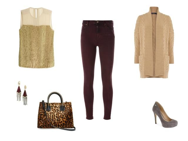 The Best Ways to Wear Jeans On a Fall or Winter Date: Colored Jeans and Sequins