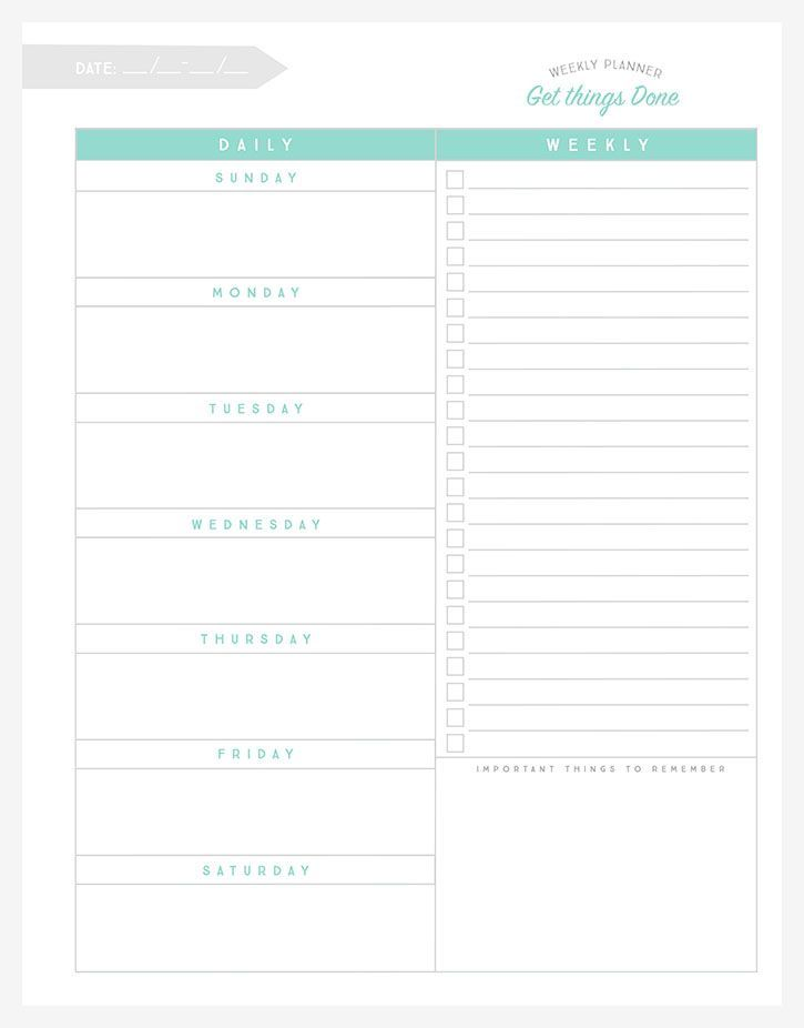 This FREE printable weekly planner is a great way to get a bird's eye view of your week and then prioritize your weekly to-do list.