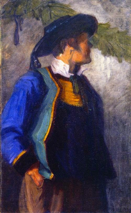 Akseli Gallen-Kallela (26 aprilie 1865 - 7 martie 1931), pictor şi grafician finlandez  - Self Portrait in Breton Costume