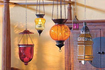 lanternas turcas e marroquinas