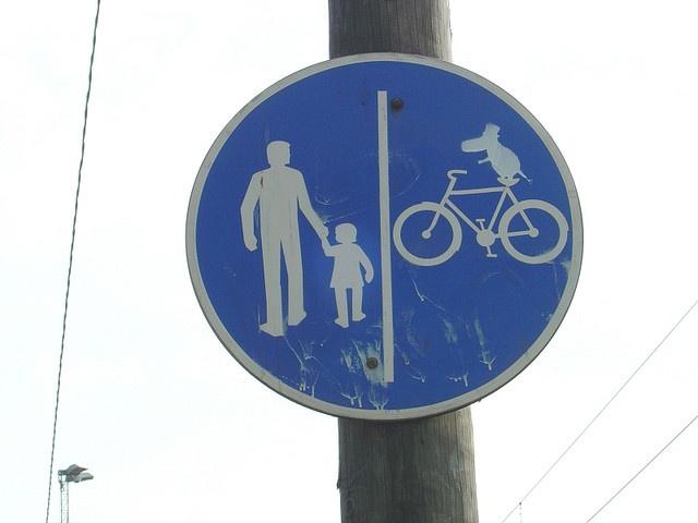 Moomin Traffic sign at Tokoinranta, Helsinki