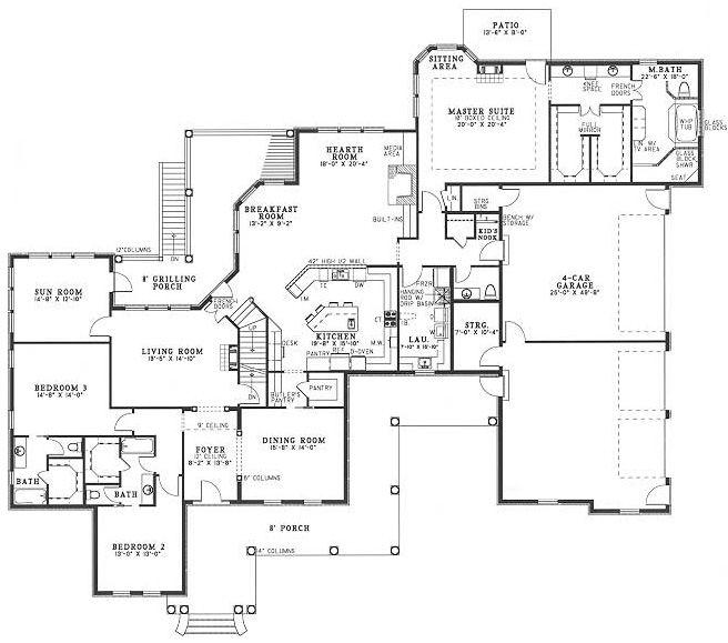 Image Result For Four Car Garage House Plans