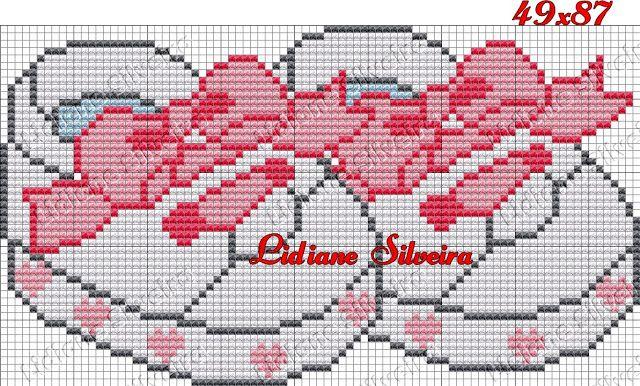 Lidiane Silveira: Acessórios de bebês Ponto Cruz                                                                                                                                                     Mais