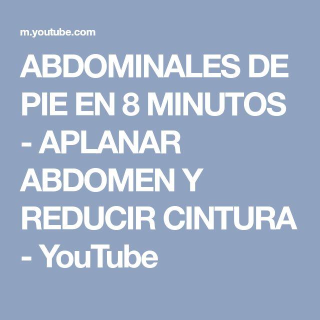 ABDOMINALES DE PIE EN 8 MINUTOS - APLANAR ABDOMEN Y REDUCIR CINTURA - YouTube