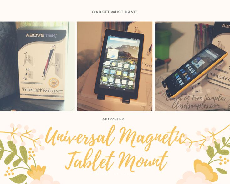 ★★★ 🅽🅴🆆 ★★★ AboveTEK Universal Magnetic Tablet Mount #Review:   I have discovered a great gift idea for someone who loves technology and…