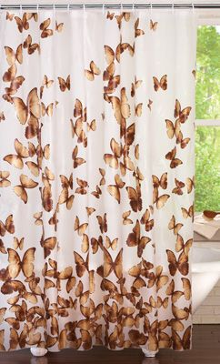 Copper Butterflies Shower Curtain