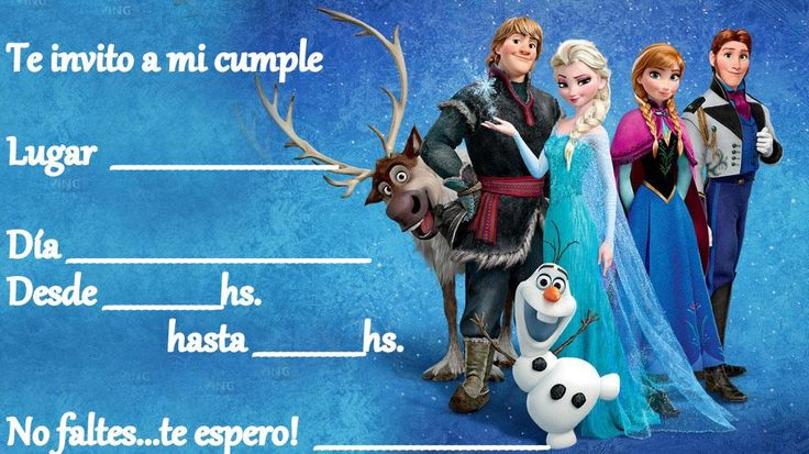 Tarjetas de cumpleaños imprimibles de Frozen