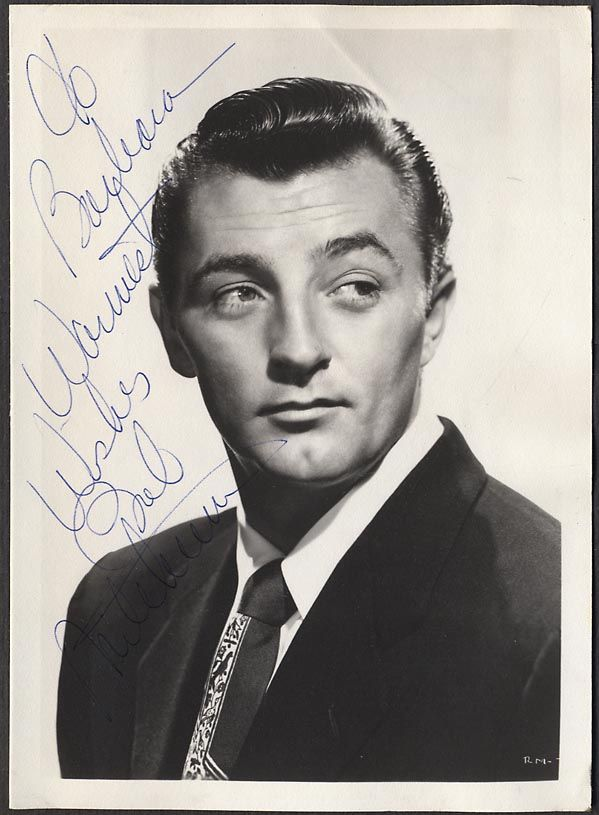 movie star autograph  | Autographed-Photo-Hollywood-Movie-Star-Handsome-Man-Robert-Mitchum ...