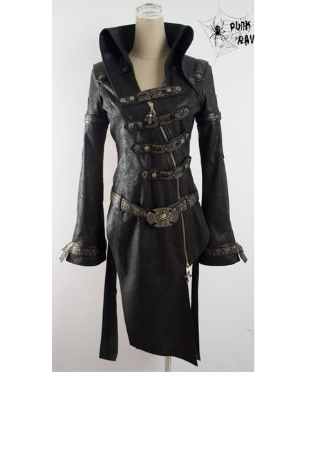 Steam Punk Military Trench Coat   Black I want this please in my size