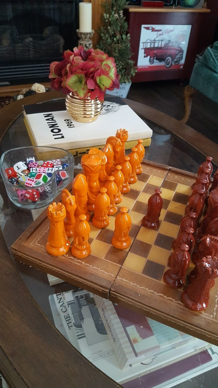 Chess pieces find from a  garage sale.