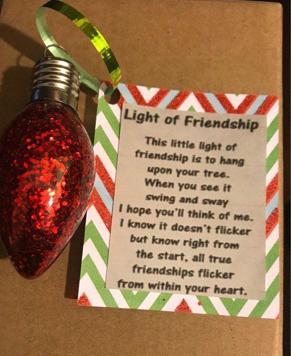 Light of friendship Christmas ornament