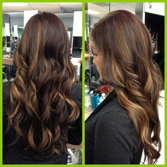 chocolate base with caramel peekaboos hair pinterest