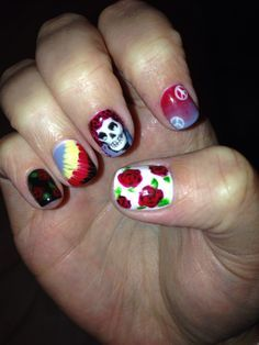 12 best grateful dead nails images on pinterest grateful dead grateful dead nail art google search prinsesfo Gallery
