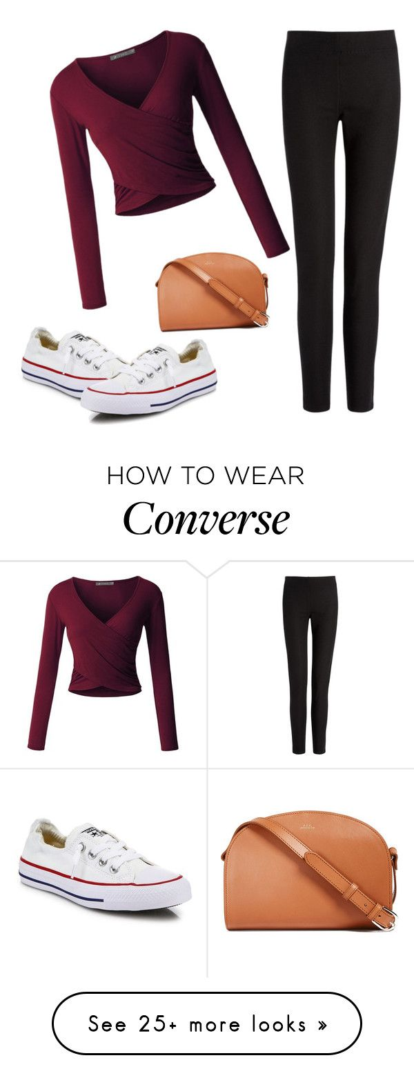 """Casual"" by belle-nuit on Polyvore featuring Joseph, Converse, A.P.C. and LE3NO"