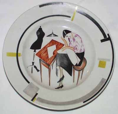 soviet porcelain | Soviet revolutionary porcelain plate, collection of the British Museum