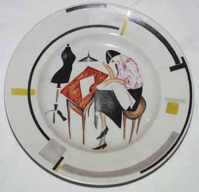 soviet porcelain | Soviet revolutionary porcelain plate, collection of the British Museum