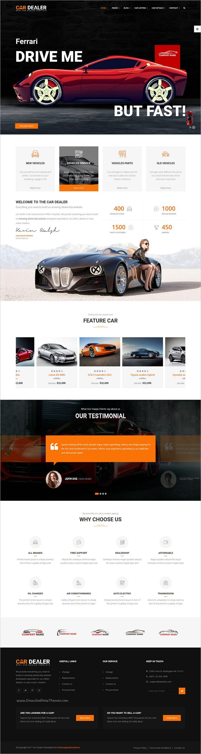 Car dealer the best car dealer automotive responsive html5 template car dealershtml