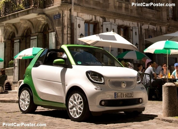 Smart fortwo Cabrio electric drive 2017 poster, #poster, #mousepad, #tshirt, #printcarposter