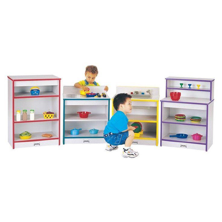 Jonti-Craft Rainbow Accents Toddler Kitchen - Set of 4 Black - 4080JCWW180