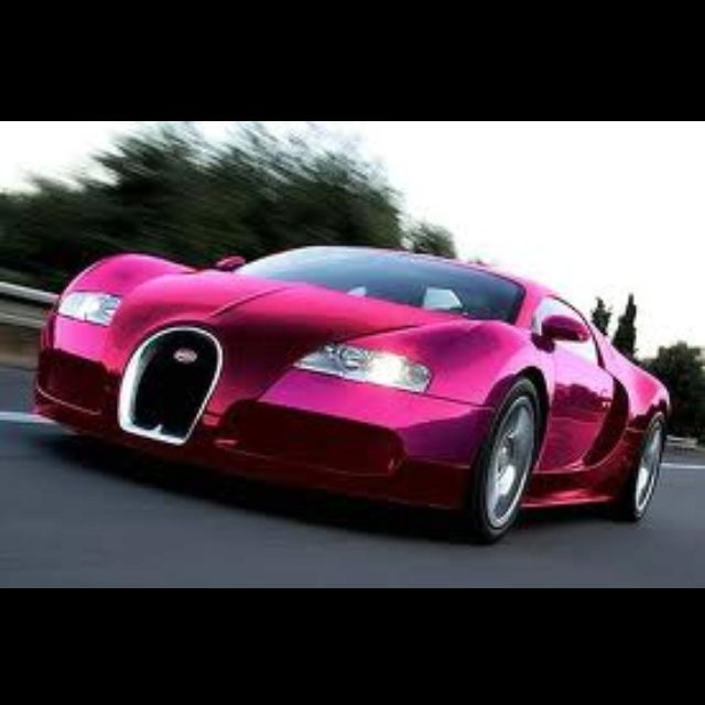 A pink Bugatti!? When I have 2.5 million lying around one day...