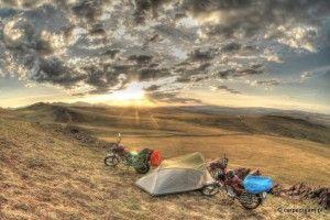 Mongolia bike trip.