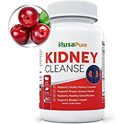 Kidney Cleanse with Organic Cranberry Extract: Supports Bladder Control & Urinary Tract Health