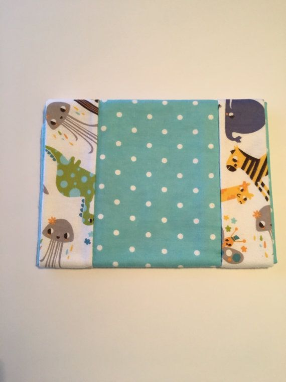 2-pk Teal Dots and Animal Burp Cloths by 5BlueberryLane on Etsy