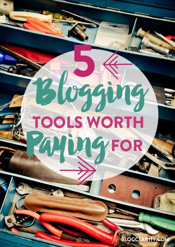 Even if you aren't blogging for money, blogging can lead to a few expenses. These blogging tools are worth the money so you can grow your blog and be a more productive blogger.